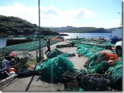 Mending the nets!